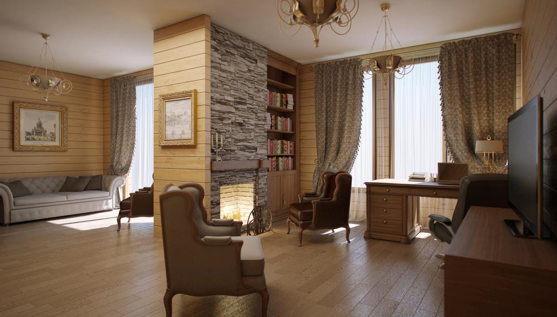 Дизайн комнат загородного дома фото