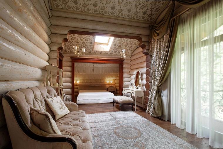Спальня в загородном доме дизайн фото