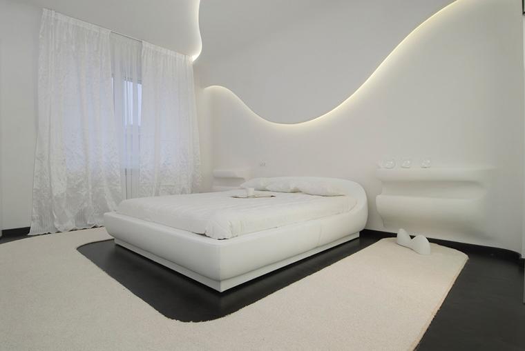 Дизайн в белом цвете комнаты
