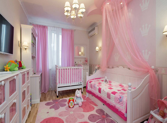 11 комнат для новорожденной девочки