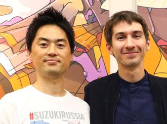 <p class=author>Такахаси Юта и Анатолий Akue.</p> SUZUKI SX4.