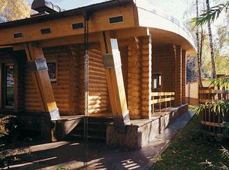 Проекты и фото деревянных бань из бревен