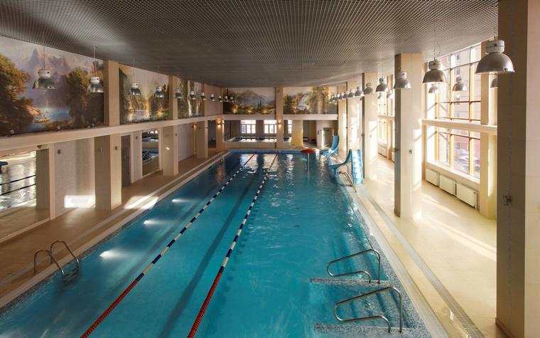 Спортивный комплекс, фитнес клуб. спортивные сооружения из проекта , фото №44264