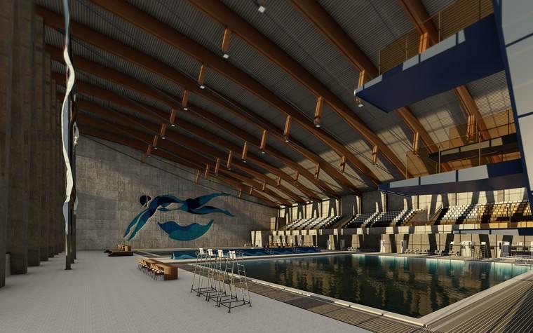 Спортивный комплекс, фитнес клуб. общественные здания  из проекта Комплекс водных видов спорта в г. Ярославле, фото №104288