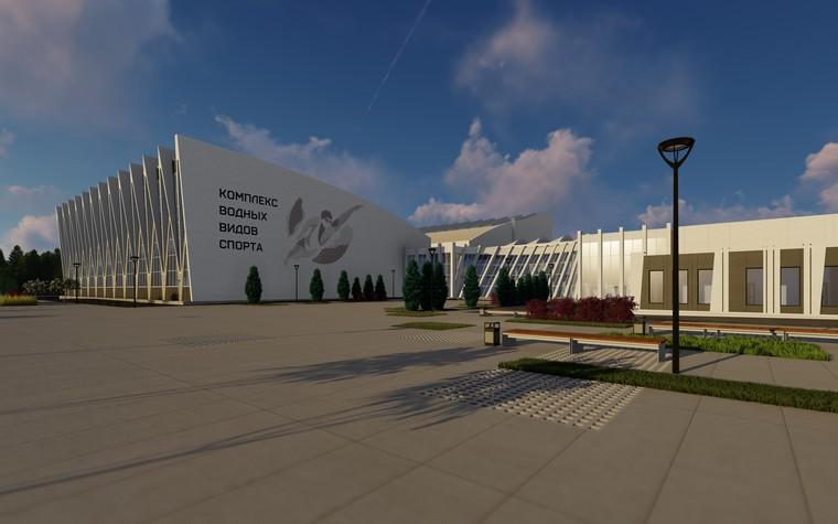 Спортивный комплекс, фитнес клуб. общественные здания  из проекта Комплекс водных видов спорта в г. Ярославле, фото №104290