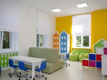Интерьер учебных комнат в детской больнице, фото № 6753, Комаров Михаил