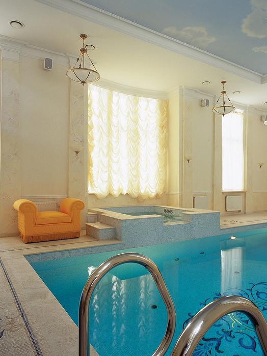 Баня, сауна, бассейн. бассейн из проекта , фото №13200