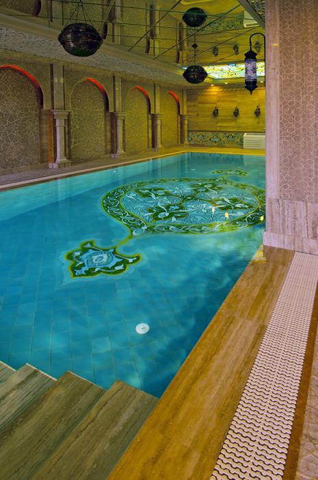 Баня, сауна, бассейн. бассейн из проекта , фото №25018