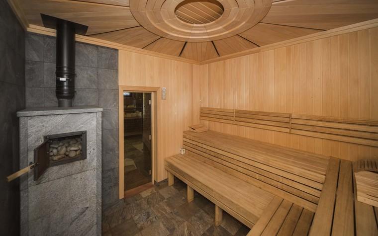 Баня, сауна, бассейн. баня сауна из проекта Баня из клеёного бруса в дачном поселке Гавриково, МО., фото №75146