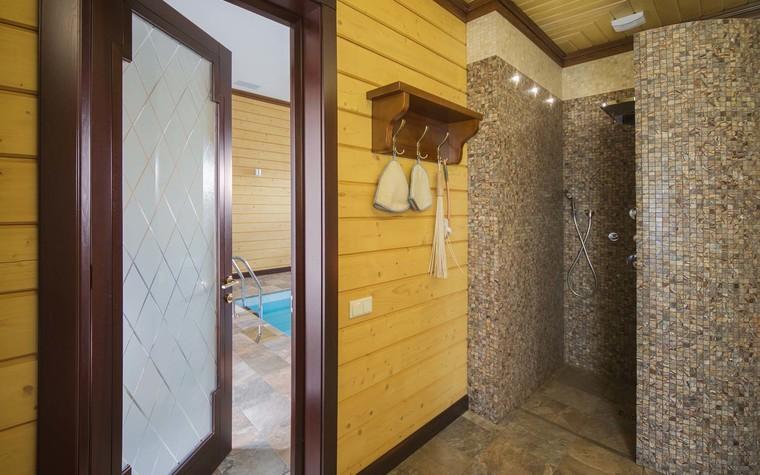 Баня, сауна, бассейн. баня сауна из проекта Баня из клеёного бруса в дачном поселке Гавриково, МО., фото №75152