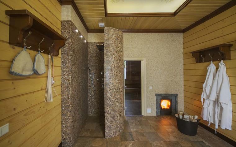 Баня, сауна, бассейн. баня сауна из проекта Баня из клеёного бруса в дачном поселке Гавриково, МО., фото №75153