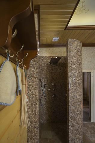 Баня, сауна, бассейн. баня сауна из проекта Баня из клеёного бруса в дачном поселке Гавриково, МО., фото №75150