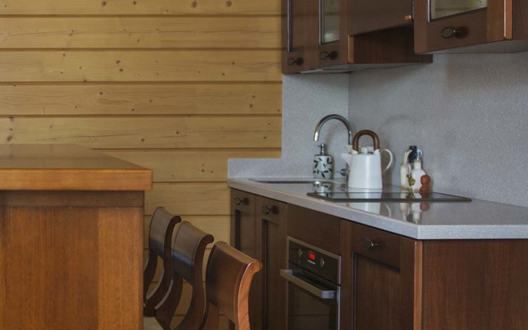 Баня, сауна, бассейн. кухня из проекта Баня из клеёного бруса в дачном поселке Гавриково, МО., фото №75142