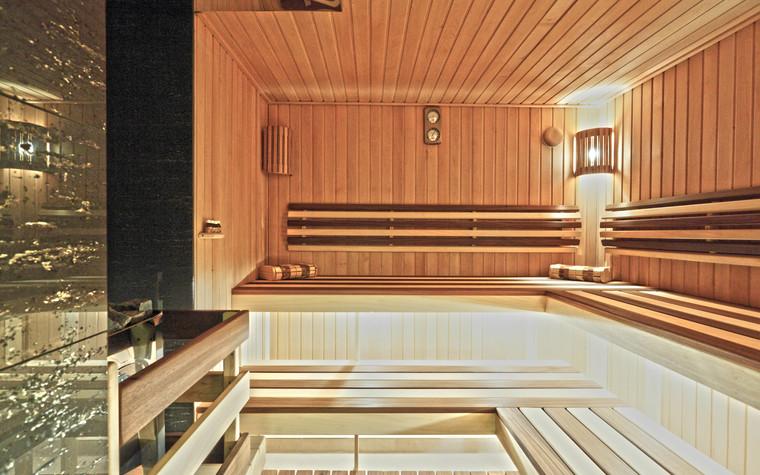 Баня, сауна, бассейн. баня сауна из проекта Баня с большой террасой, фото №83250