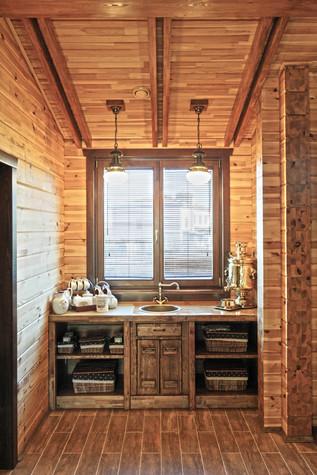 Баня, сауна, бассейн. кухня из проекта Баня с большой террасой, фото №83240