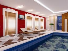 Баня, сауна, бассейн «Петергофский фьюжн», бассейн . Фото № 25517, автор Fisheye Architecture & Design   Александр