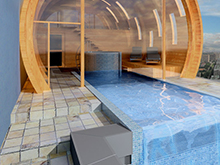Баня, сауна, бассейн «», бани, сауны . Фото № 2316, автор Казаковцева Александра, Махонина Мария, МК-интерио