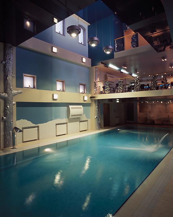 Баня, сауна, бассейн «», бассейн, фото из проекта