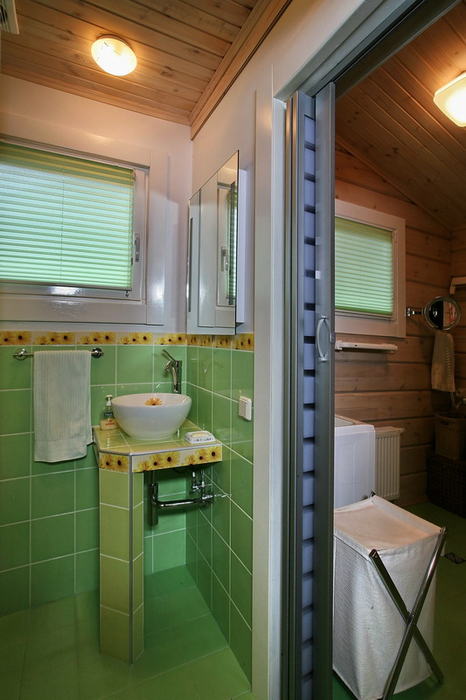 Гостевой дом. ванная из проекта , фото №19406
