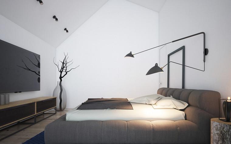 Гостевой дом. спальня из проекта Загородный гостевой дом, фото №78137