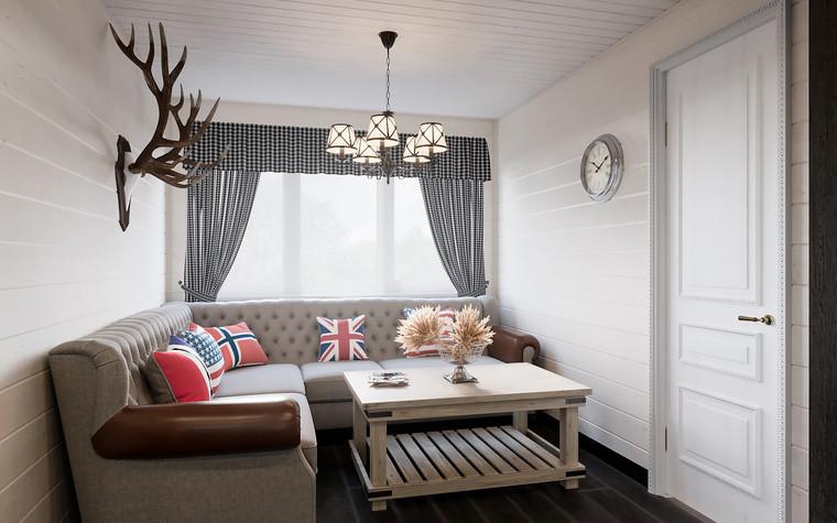 Гостевой дом. гостиная из проекта Гостевой дом-баня, фото №93339