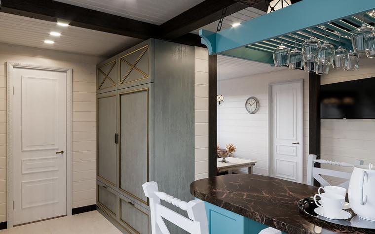 Гостевой дом. кухня из проекта Гостевой дом-баня, фото №93341