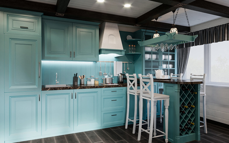 Гостевой дом. кухня из проекта Гостевой дом-баня, фото №93342