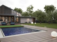 Гостевой дом «Загородный гостевой дом», бассейн  . Фото № 24667, автор Zooi design studio
