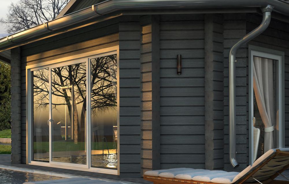 Гостевой дом «Гостевой дом с баней из клееного бруса в Подмосковье.», гостевой дом, фото из проекта