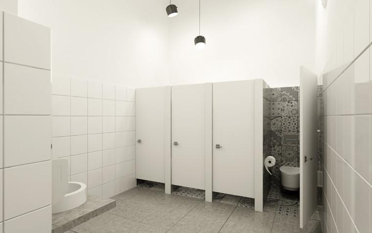 Общественные помещения. санузел из проекта Санузел для МАРХИ, фото №75223