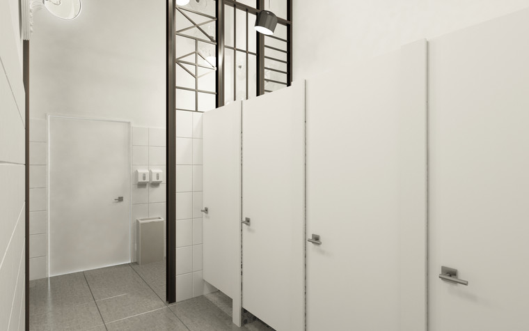 Общественные помещения. санузел из проекта Санузел для МАРХИ, фото №75214