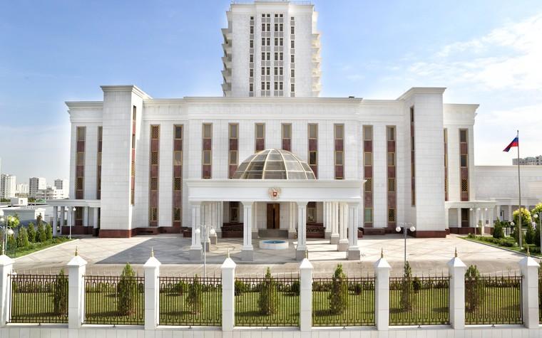 Общественные помещения. общественные здания  из проекта Посольство РФ а Ашхабаде. Туркменистан, фото №80068