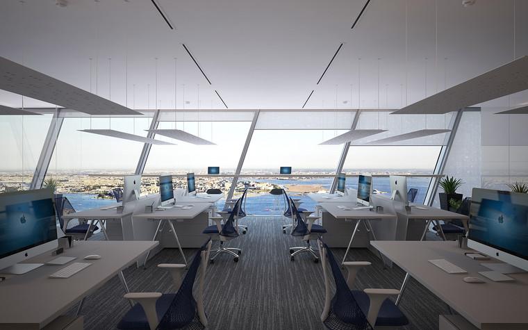 Дизайн офиса. офисы из проекта Офис Газпром-нефть.Лахта центр, фото №95777