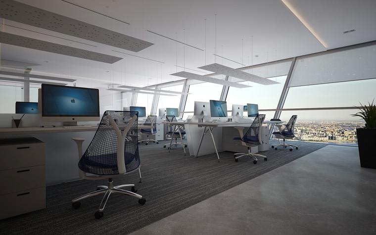 Дизайн офиса. офисы из проекта Офис Газпром-нефть.Лахта центр, фото №95780