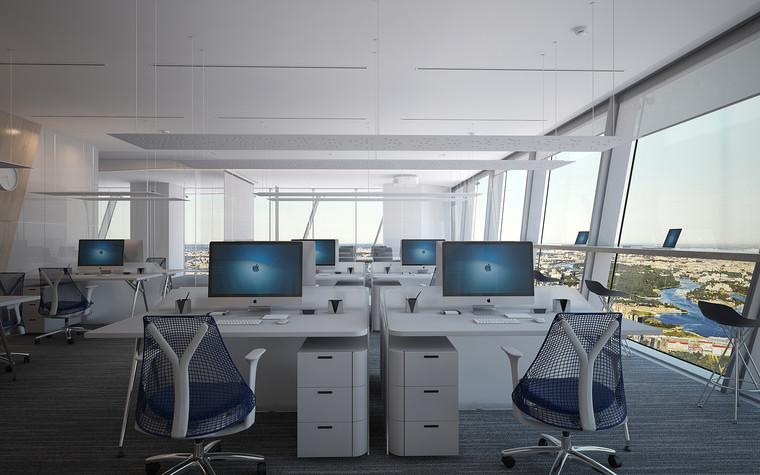 Дизайн офиса. офисы из проекта Офис Газпром-нефть.Лахта центр, фото №95782