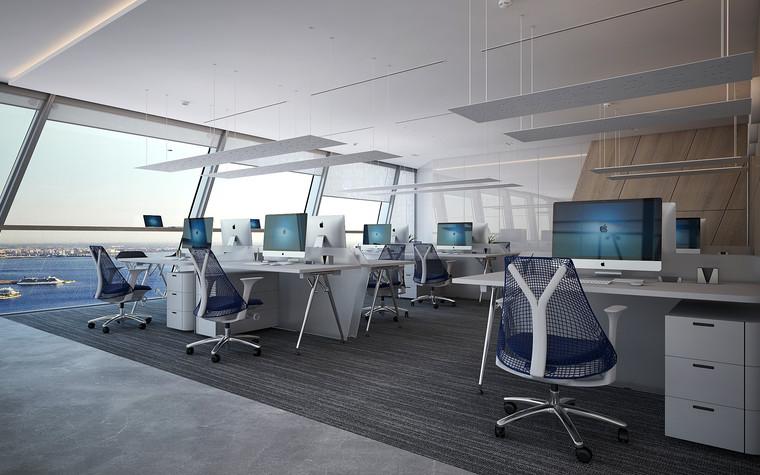 Дизайн офиса. офисы из проекта Офис Газпром-нефть.Лахта центр, фото №95783