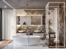Квартира «Апартаменты в небоскрёбе «ОКО»», ванная . Фото № 30822, автор Дмитрова Кристина