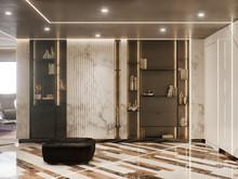 Квартира «Апартаменты в небоскрёбе «ОКО»», прихожая . Фото № 30821, автор Дмитрова Кристина