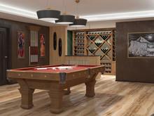Квартира «Проект дома Новая Рига», бильярдная . Фото № 31685, автор Голубев Алексей