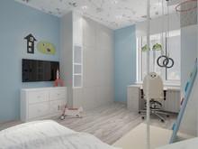Квартира «Проект в современном стиле от АЙ ЛАЙК.», детская . Фото № 31872, автор Пистоли Анна
