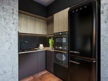 Квартира «Лофт для холостяка», кухня . Фото № 32154, автор Шерстнева Екатерина