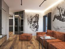 Квартира «Лофт для холостяка», гостиная . Фото № 32156, автор Шерстнева Екатерина