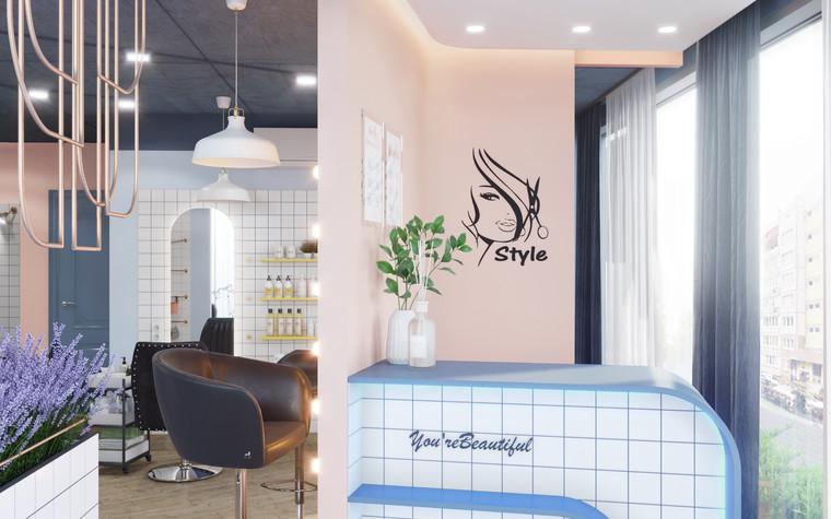 Салон красоты. салон красоты из проекта Салон красоты в пастельных тонах, фото №97515