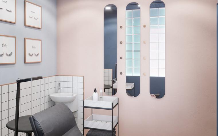 Салон красоты. салон красоты из проекта Салон красоты в пастельных тонах, фото №97519