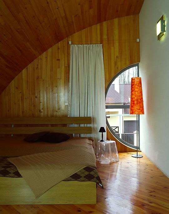 Фото № 6455 спальня  Загородный дом