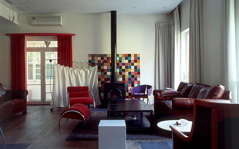 Загородный дом. гостиная из проекта , фото №6635