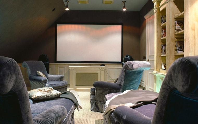 Загородный дом. домашний кинотеатр из проекта , фото №6709