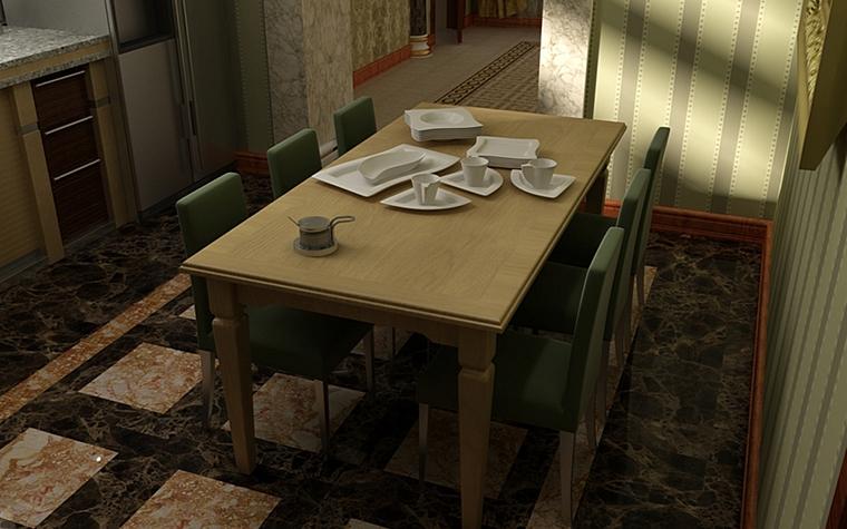 Фото № 9978 кухня  Загородный дом