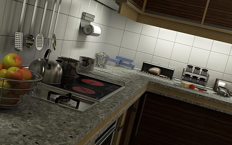 Фото № 9979 кухня  Загородный дом