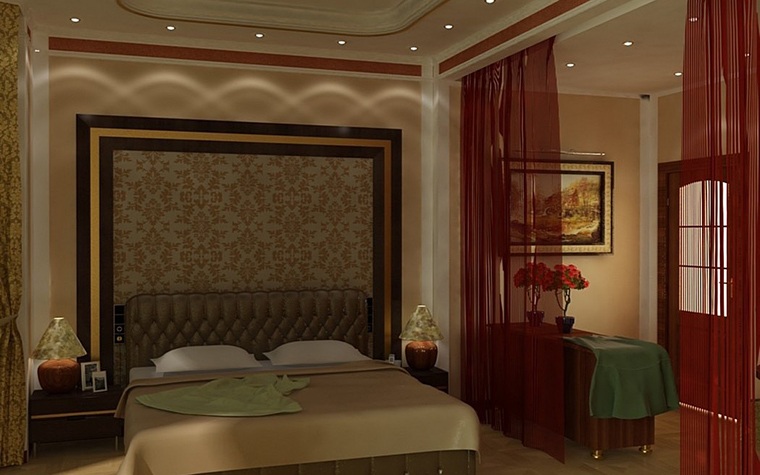 Фото № 10052 спальня  Загородный дом
